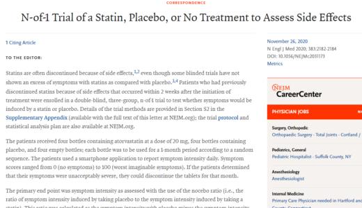 スタチン系薬剤の副作用・有害事象とノセボ効果の関係